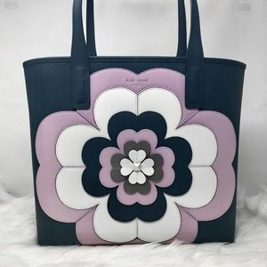KATE SPADE ♠️ Reiley Flower Motif Large Tote